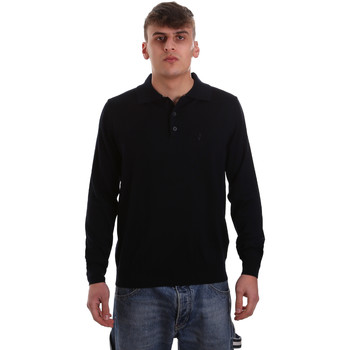 tekstylia Męskie Koszulki polo z długim rękawem Navigare NV11006 40 Niebieski
