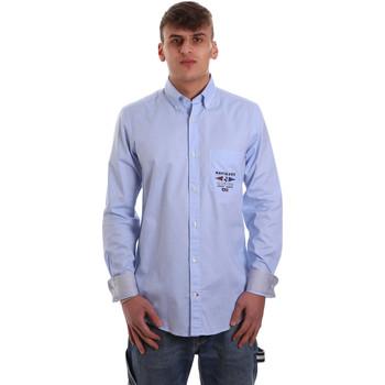tekstylia Męskie Koszule z długim rękawem Navigare NV91061 BD Niebieski