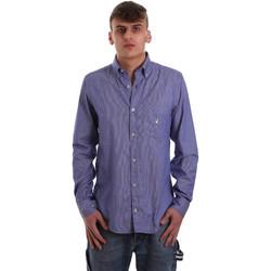 tekstylia Męskie Koszule z długim rękawem Navigare NV91068 BD Niebieski