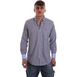 tekstylia Męskie Koszule z długim rękawem Navigare NV91072 BD Niebieski