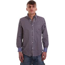 tekstylia Męskie Koszule z długim rękawem Navigare NV91074 BD Czerwony