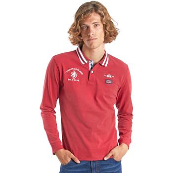tekstylia Męskie Koszulki polo z długim rękawem La Martina OMP325 JS005 Czerwony