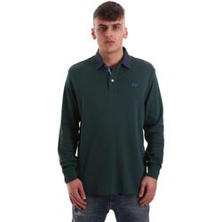 tekstylia Męskie Koszulki polo z długim rękawem La Martina OMP007 JS169 Zielony