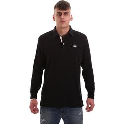 tekstylia Męskie Koszulki polo z długim rękawem La Martina OMP007 JS169 Czarny