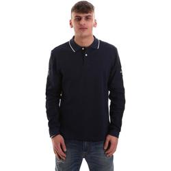 tekstylia Męskie Koszulki polo z długim rękawem La Martina OMPM36 JS169 Niebieski