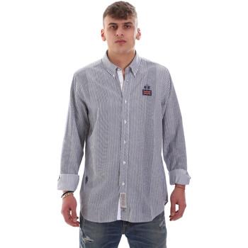 tekstylia Męskie Koszule z długim rękawem La Martina OMC021 PP472 Biały
