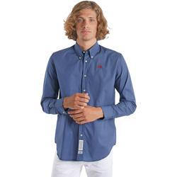 tekstylia Męskie Koszule z długim rękawem La Martina OMC015 PP461 Niebieski