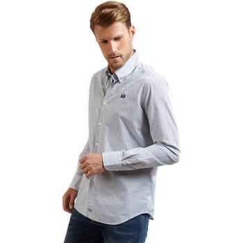 tekstylia Męskie Koszule z długim rękawem La Martina OMC016 PP462 Niebieski