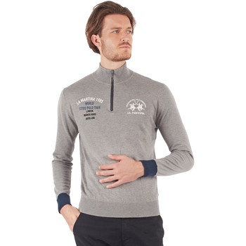 tekstylia Męskie T-shirty z długim rękawem La Martina OMS317 YW025 Szary