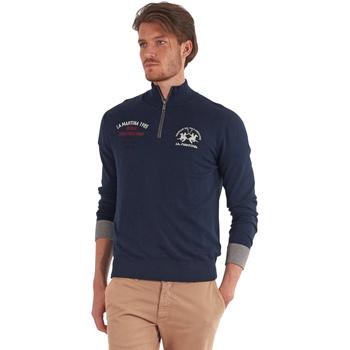 tekstylia Męskie Swetry La Martina OMS317 YW025 Niebieski