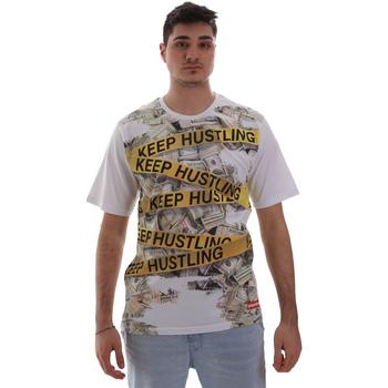 tekstylia Męskie T-shirty z krótkim rękawem Sprayground SP017S Biały