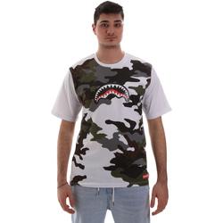 tekstylia Męskie T-shirty z krótkim rękawem Sprayground SP023S Biały