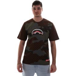 tekstylia Męskie T-shirty z krótkim rękawem Sprayground SP018SBRO Brązowy