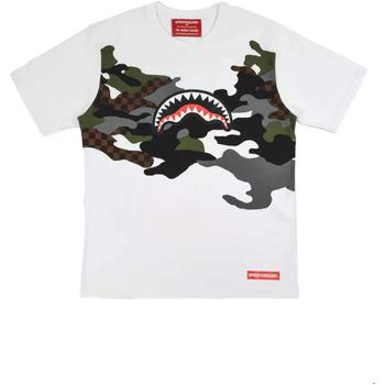tekstylia Męskie T-shirty z krótkim rękawem Sprayground SP022S Biały