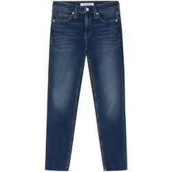 tekstylia Damskie Jeansy skinny Calvin Klein Jeans J20J211886 Niebieski