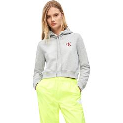 tekstylia Damskie Bluzy Calvin Klein Jeans J20J210601 Szary