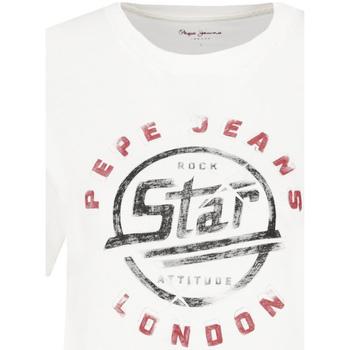 tekstylia Damskie T-shirty z krótkim rękawem Pepe jeans PL504273 Biały
