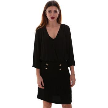 tekstylia Damskie Sukienki krótkie Gaudi 921FD15037 Czarny