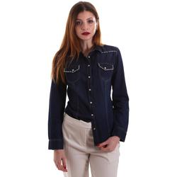 tekstylia Damskie Koszule Gaudi 921BD46001 Niebieski