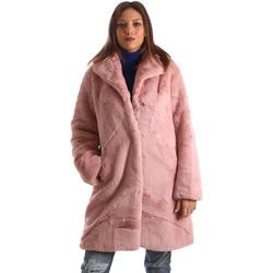 tekstylia Damskie Płaszcze Invicta 4444005/D Różowy
