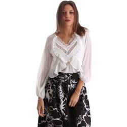 tekstylia Damskie Koszule Fracomina FR19FMFLORRIE Biały