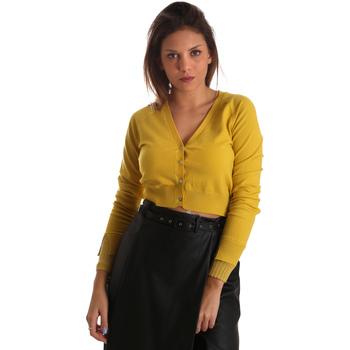 tekstylia Damskie Swetry rozpinane / Kardigany Fracomina FR19FM823 Żółty