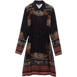 tekstylia Damskie Sukienki krótkie Desigual 19WWVW34 Czarny