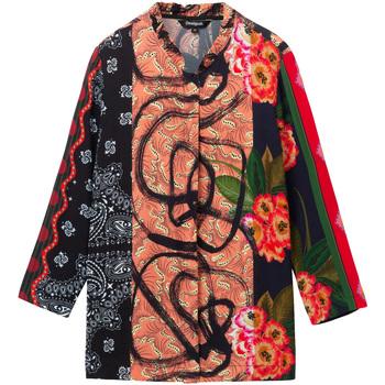 tekstylia Damskie Koszule Desigual 19WWCW11 Czarny
