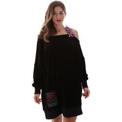 tekstylia Damskie Sukienki krótkie Versace B6HUB77011684899 Czarny