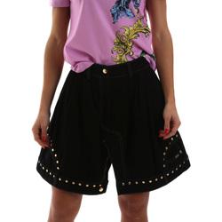 tekstylia Damskie Spódnice Versace A9HUB301APD3W899 Czarny