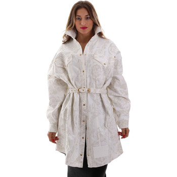 tekstylia Damskie Kurtki lekkie Versace D2HUB445HRC43003 Biały