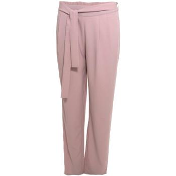tekstylia Damskie Spodnie z lejącej tkaniny / Alladynki Smash S1829415 Różowy