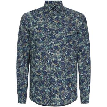 tekstylia Męskie Koszule z długim rękawem Calvin Klein Jeans K10K105411 Niebieski