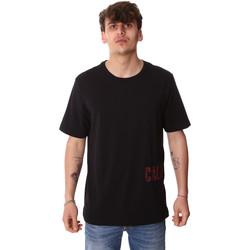 tekstylia Męskie T-shirty z krótkim rękawem Calvin Klein Jeans 00GMH9K287 Czarny