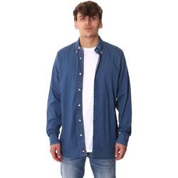 tekstylia Męskie Koszule z długim rękawem Tommy Hilfiger MW0MW12799 Niebieski