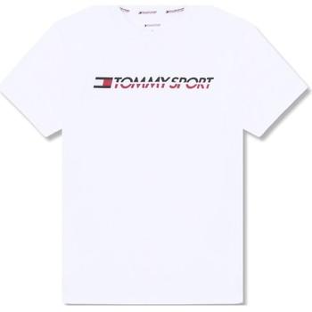 tekstylia Męskie T-shirty z krótkim rękawem Tommy Hilfiger S20S200051 Biały