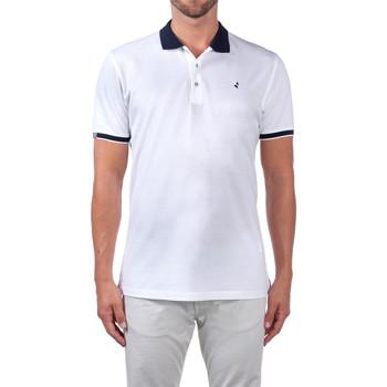 tekstylia Męskie Koszulki polo z krótkim rękawem Navigare NV72058 Biały