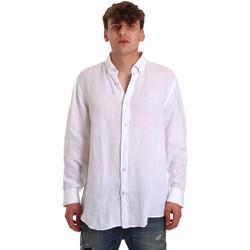 tekstylia Męskie Koszule z długim rękawem Navigare NV91108 Biały