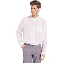 tekstylia Męskie Koszule z długim rękawem Gaudi 011BU45001 Biały