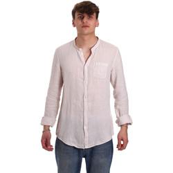 tekstylia Męskie Koszule z długim rękawem Gaudi 011BU45001 Beżowy