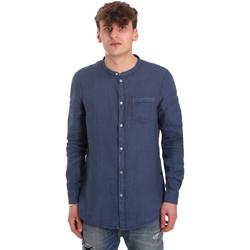 tekstylia Męskie Koszule z długim rękawem Gaudi 011BU45001 Niebieski