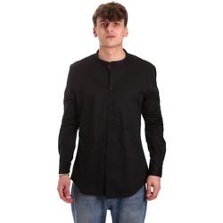 tekstylia Męskie Koszule z długim rękawem Gaudi 011BU45013 Czarny