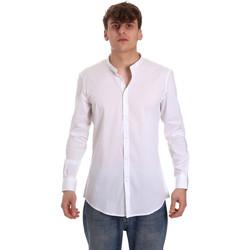 tekstylia Męskie Koszule z długim rękawem Gaudi 011BU45013 Biały