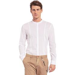 tekstylia Męskie Koszule z długim rękawem Gaudi 011BU45031 Biały