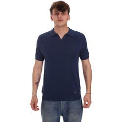 tekstylia Męskie Koszulki polo z długim rękawem Gaudi 011BU53010 Niebieski