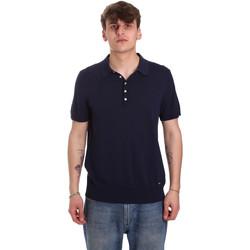 tekstylia Męskie Koszulki polo z krótkim rękawem Gaudi 011BU53011 Niebieski