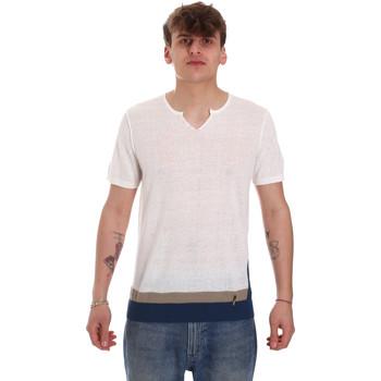 tekstylia Męskie T-shirty z krótkim rękawem Gaudi 011BU53021 Beżowy