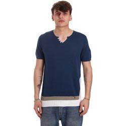 tekstylia Męskie T-shirty z krótkim rękawem Gaudi 011BU53021 Niebieski