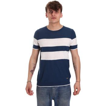 tekstylia Męskie T-shirty z krótkim rękawem Gaudi 011BU53023 Niebieski