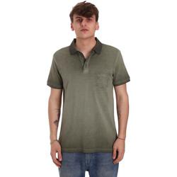 tekstylia Męskie Koszulki polo z krótkim rękawem Gaudi 011BU64017 Zielony